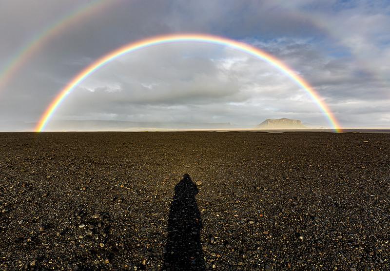 Solheimasandur Double Rainbow