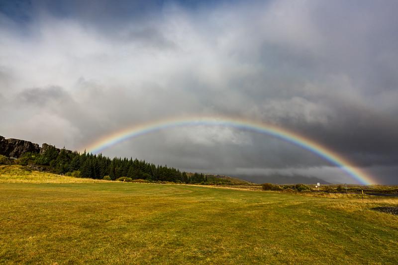 Öxarárfoss rainbow