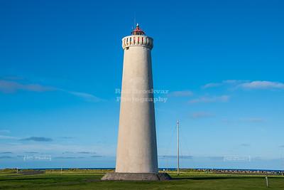 The 'new' lighthouse at Garðskagi