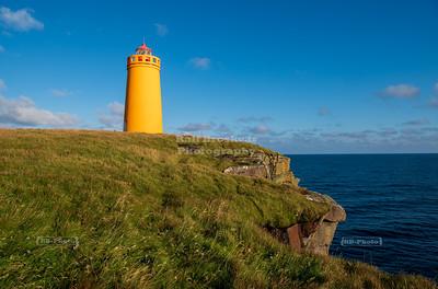 Holmsberg Lighthouse, Reykjanesbær, Southern Peninsula, Iceland