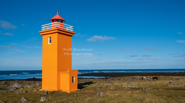 Stafnesviti Lighthouse on Reykjanes Peninsula, Iceland