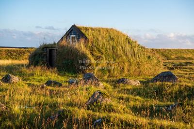 Stekkjarkot, Icelandic turf house near Keflavik International Airport on Reykjanes Peninsula, Iceland