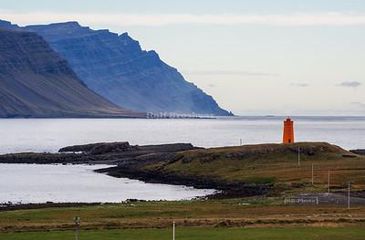 Vattarnestangi lighthouse in Eastern Iceland