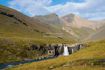 Fremstifoss Waterfall near Hornafjörður in Eastern Iceland