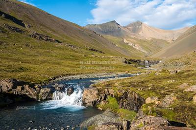 Skútafoss Waterfall near Hornafjörður in Eastern Iceland