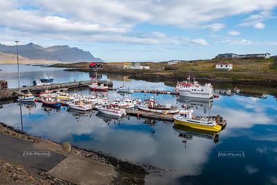 Harbor in Djúpivogur, a small fishing village in Eastern Iceland