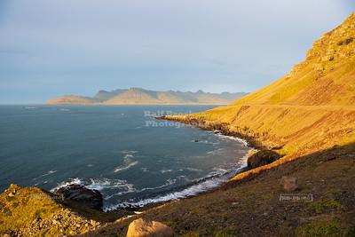 Breiðdalsvík panoramic view in East Iceland