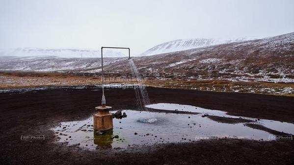 Perpetual Hot Shower near Krafla in