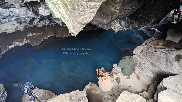 Grjótagjá Lava Cave near Lake Mývatn in North Iceland