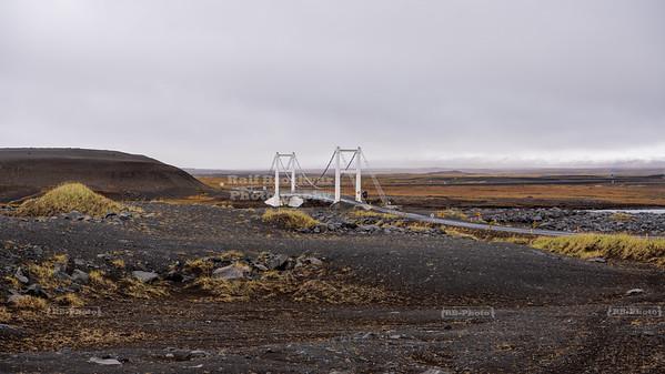 Bridge over Jökulsá á Fjöllum in Northeast Iceland