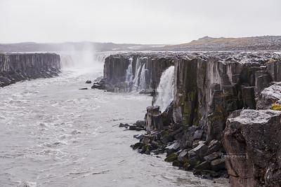 Selfoss waterfall on the Jökulsá á Fjöllum River in Northern Iceland