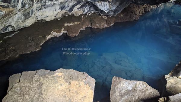 Grjótagjá Lava Cave near Lake Myvatn in North Iceland