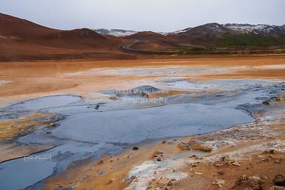Mud Pool at Námaskarð Hverir geothermal area in Northeast Iceland