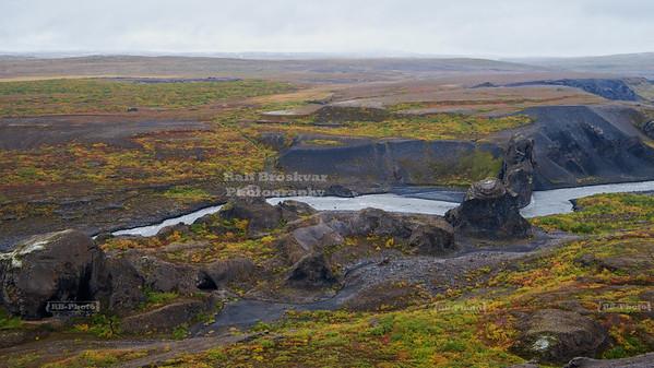 Hljóðaklettar (echo rocks) in North-East Iceland