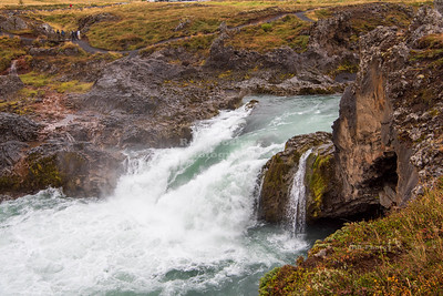Geitafoss waterfall of the Skjálfandafljót river in north Iceland