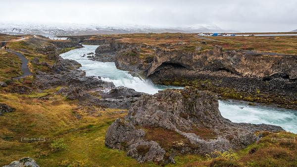 Skjálfandafljót River just downstream of Goðafoss Waterfall