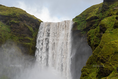 The mighty Skógafoss waterfall in South Iceland