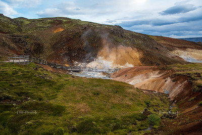 Seltún - the colourful Geothermal Area at Krýsuvík on the Reykjanesskagi Peninsula in SW-Iceland