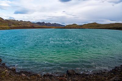 Grænavatn (Green Lake) near Seltún Geothermal Area on Reykjanes Peninsula, Iceland