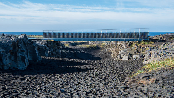 Leif the Lucky Bridge between Continents on the Reykjanes Peninsula in Iceland