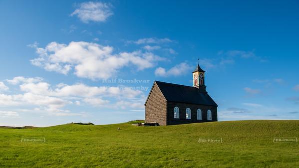 Hvalsnes Church on Reykjanes Peninsula, Iceland