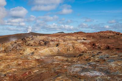 Gunnuhver Geothermal Area on Reykjanes Peninsula in Iceland