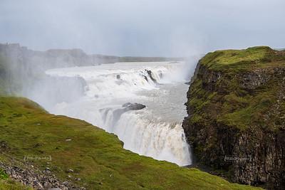 Gullfoss waterfall in Southern Iceland