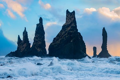 Sea stacks and an incoming tide...