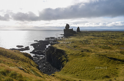 Lóndrangar rock formation on Snæfellsnes peninsula, Iceland