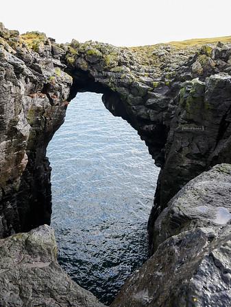 Eystrigjá natural bridge on Snæfellsnes peninsula in the Western Region of Iceland