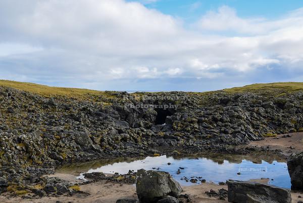 Eystrigjá natural bridge near Arnarstapi in West Iceland