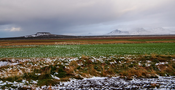 Eldborg Crater on Snaefellsnes peninsula in West Iceland