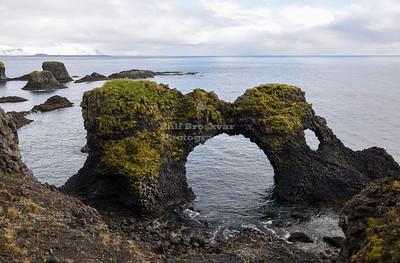 Gatklettur, or Hole Rock, near Arnarstapi in Snæfellsjökull National Park, Iceland