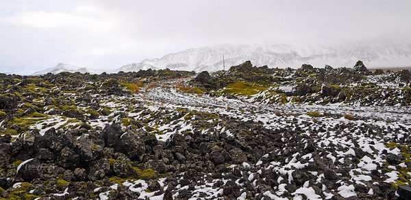 Lava fields on Snæfellsnes Peninsula in West Iceland