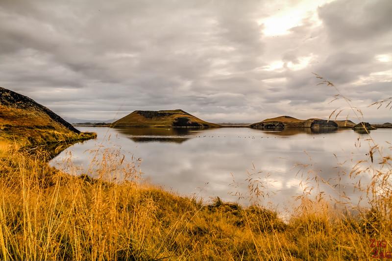 Pseudo-cratères Skutustadir Islande - Skutustagigar 1