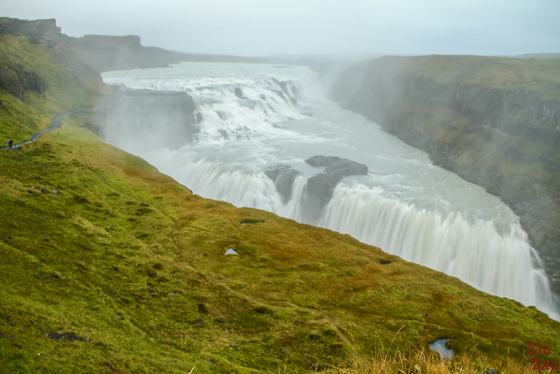 Gullfoss waterfall Iceland - global view