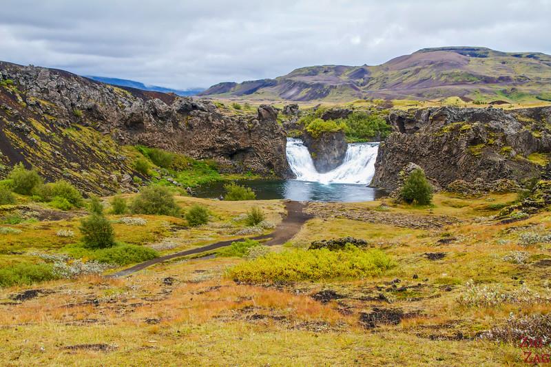 Hjaparfoss waterfall Iceland