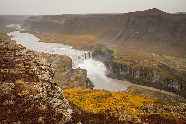 places to see in North Iceland - Hafragilsfoss waterfall
