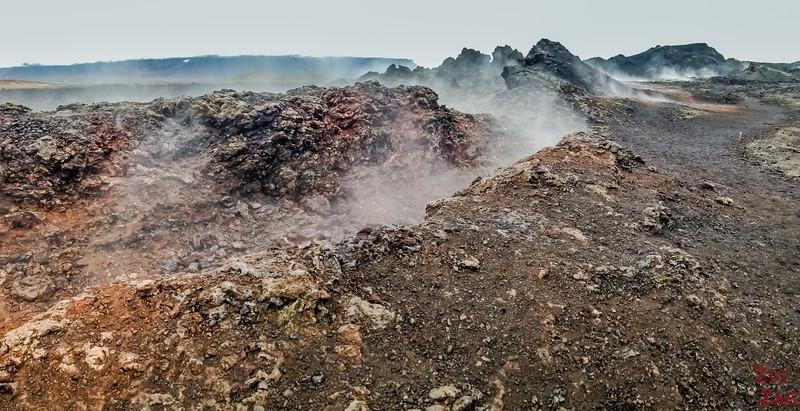 Leirhnjukur - an active lava field (still fuming) 2