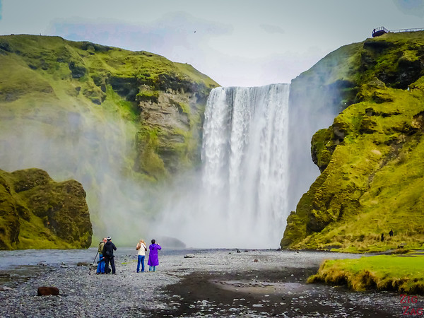 South Coast Iceland Attraction - skogafoss waterfall