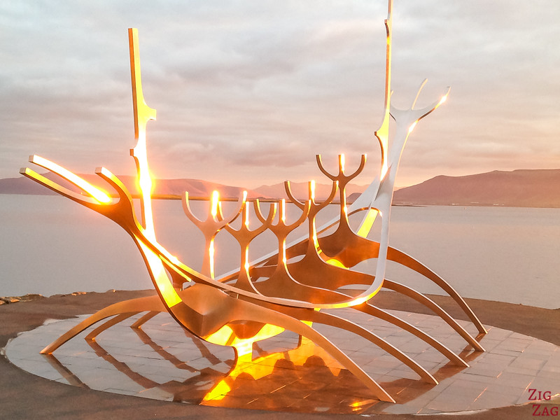Pictures of Iceland - Sun voyager at sunrise