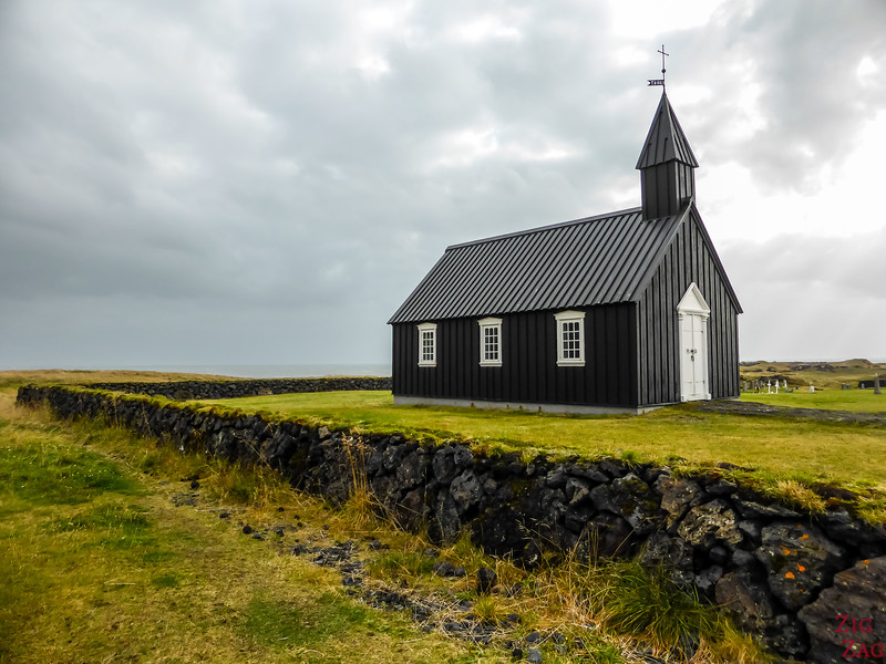PLaces to see Snaefellsnes Iceland - Church Budakirkja