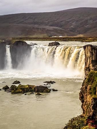 Godafoss Cascade Islande - Berge Ouest