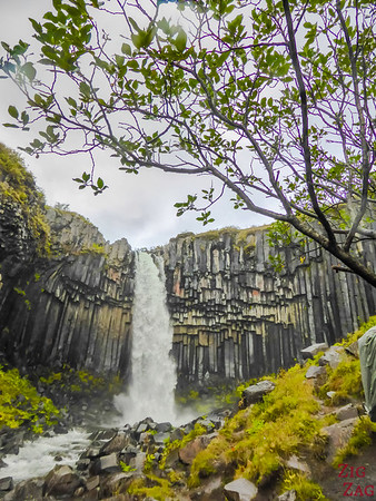 Svartifoss waterfall from up close