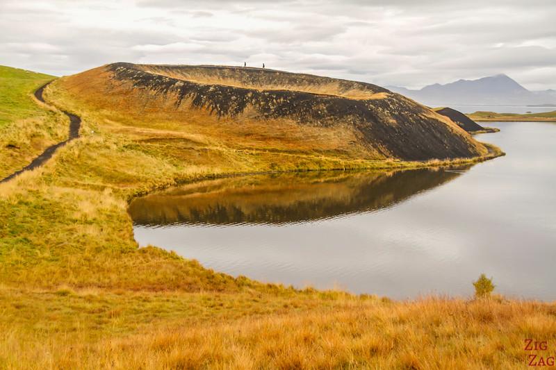 pseudo-cratères de Skutustadir, Myvatn Islande