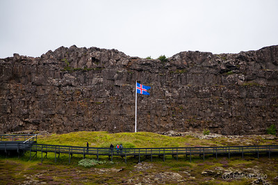 Thinkgvellir National Park Icelandic Flag
