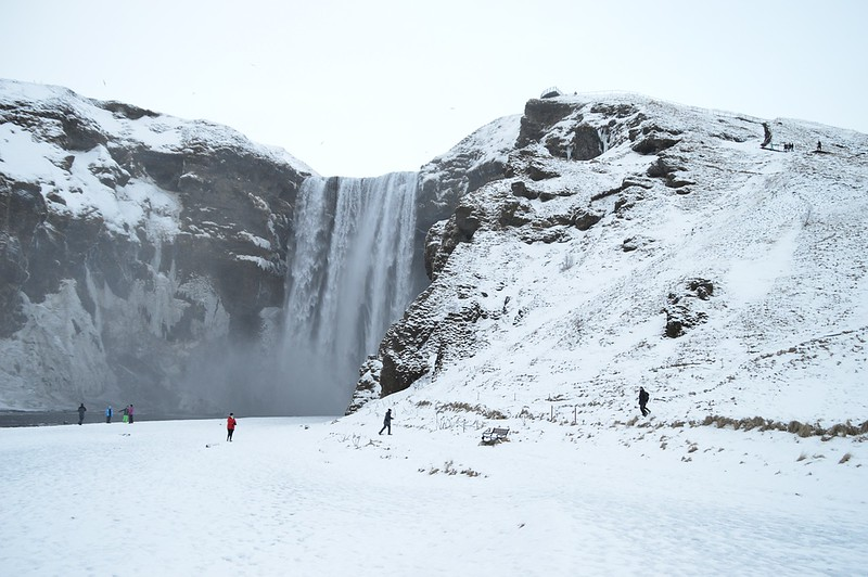 Skogafoss waterfall Winter