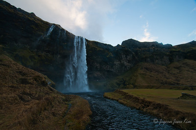 The Seljalandsfoss waterfall
