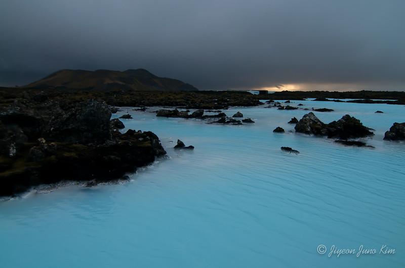 Milky blue natural hot spring of Iceland