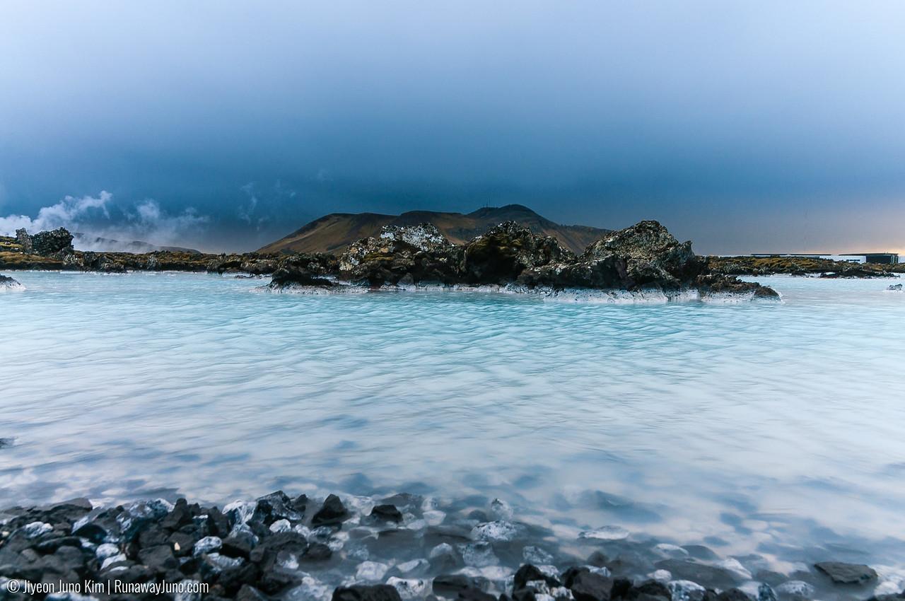 Milky blue natural hot spring near Blue Lagoon